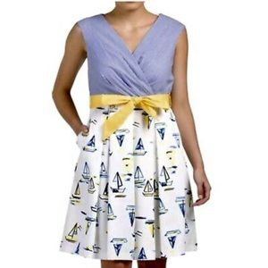Chetta B Sleeveless Sailboat Summer Dress